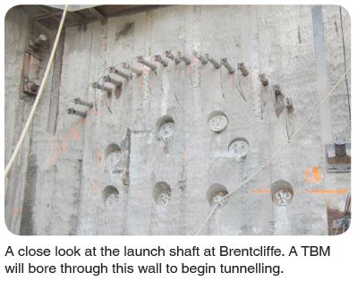 launch shaft at Brentcliffe
