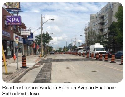 road restoration at Sutherland Drive