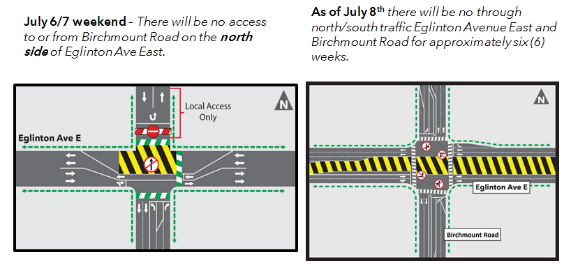 Weekend Traffic Restrictions at Birchmount Road | Crosstown
