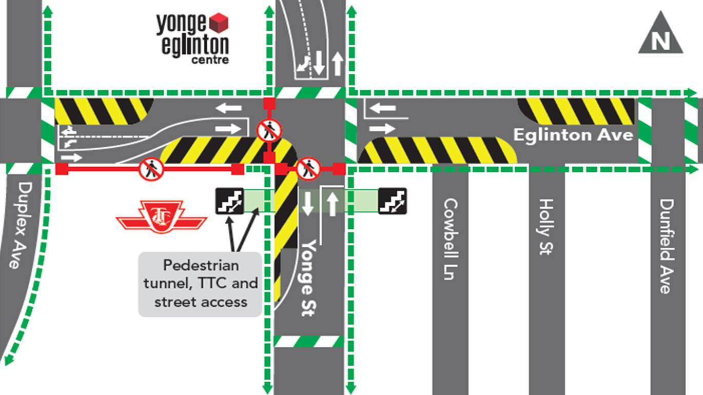 Upcoming Works at Eglinton Station: Bell Utility Relocation | Crosstown