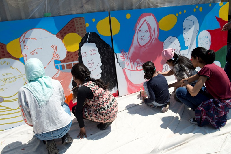 Painting the Thorncliffe Park Laird Station Mural