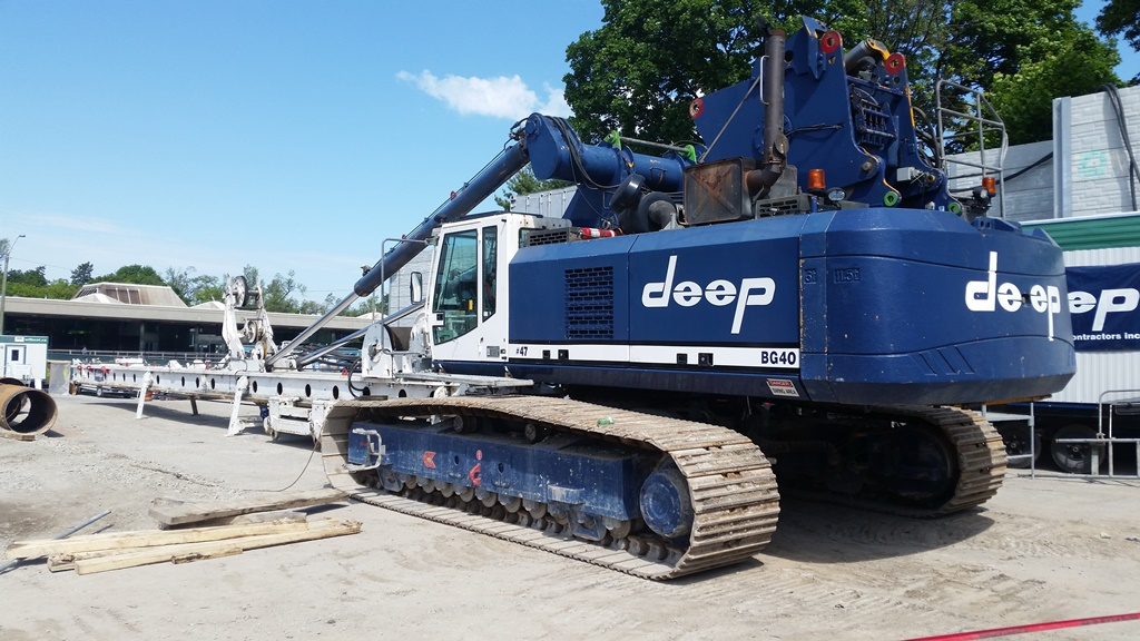 Drill Rig at Cedarvale Station Site