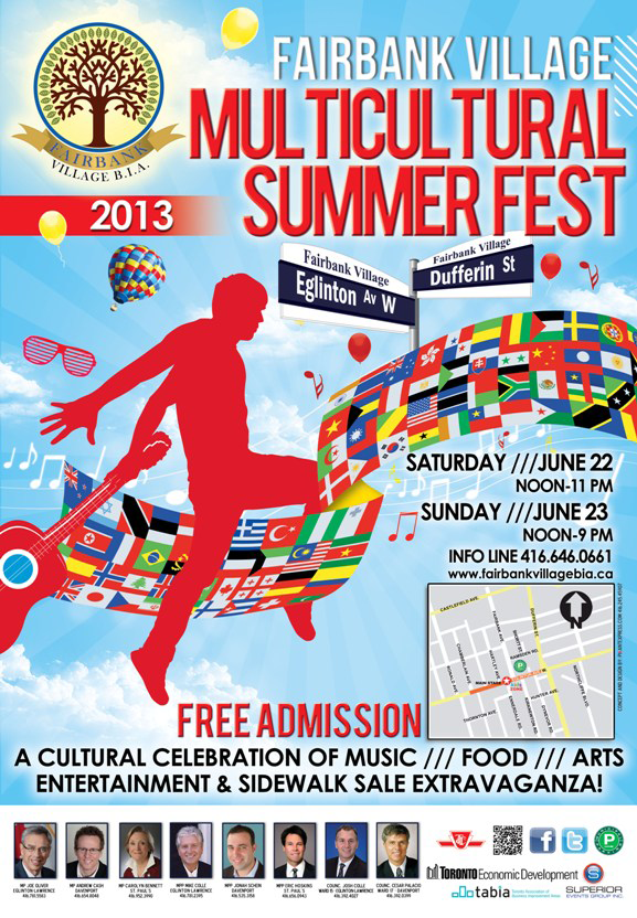 Fairbank Village Multicultural Fest poster