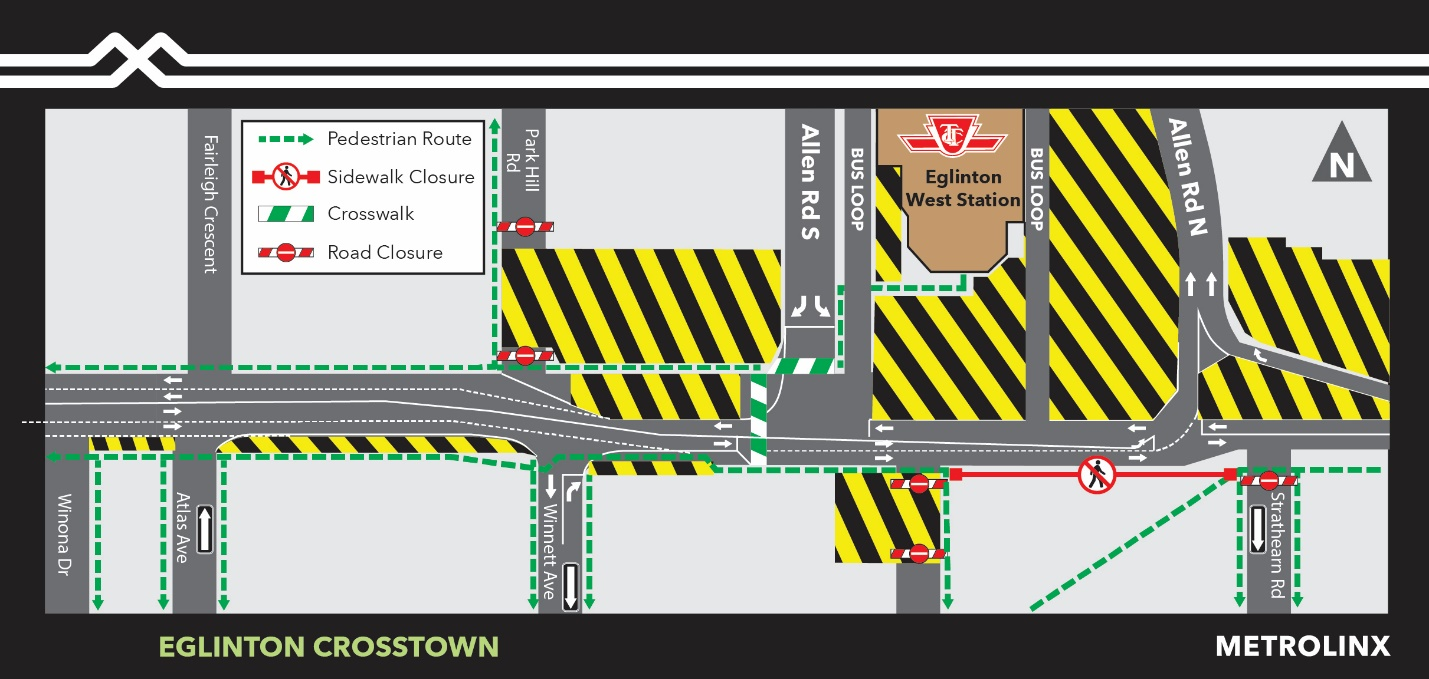 Traffic Configuration Change at Cedarvale Station for March 14 to late summer 2020