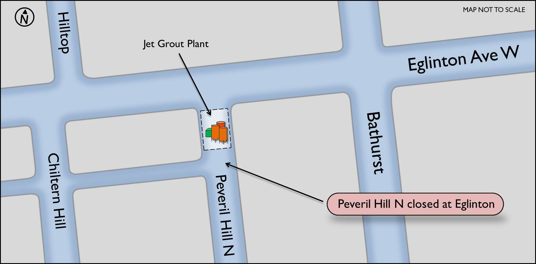 Map of Peveril Hill w jet grout plant
