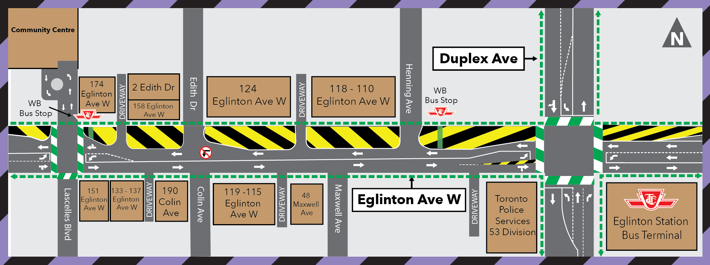 Traffic Configuration Change: Edith Drive to Lascelles Boulevard